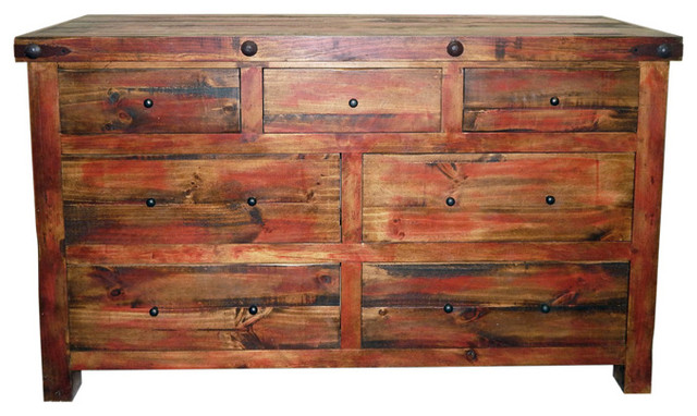 Katy Dresser, Rubbed Red Rustic Dressers