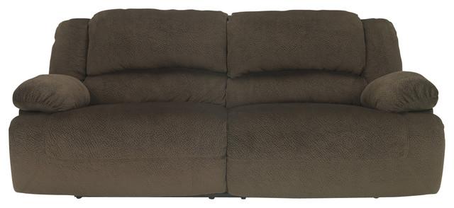 Toletta Two Seat Power Reclining Sofa Chocolate