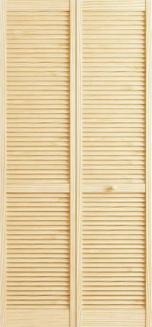 Closet Door Bi Fold Kimberly Bay Traditional Louver Clear 80 X30