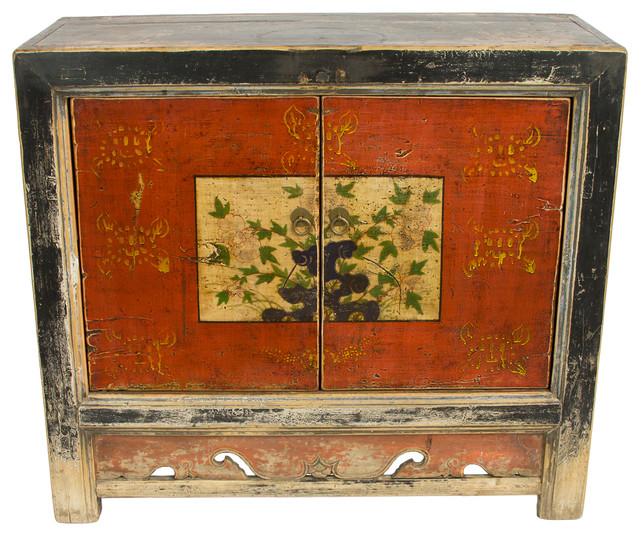 Charmant Consigned, Antique Painted Gansu Style Asian Cabinet   Asian   Accent Chests  And Cabinets   By Redd Furnishings