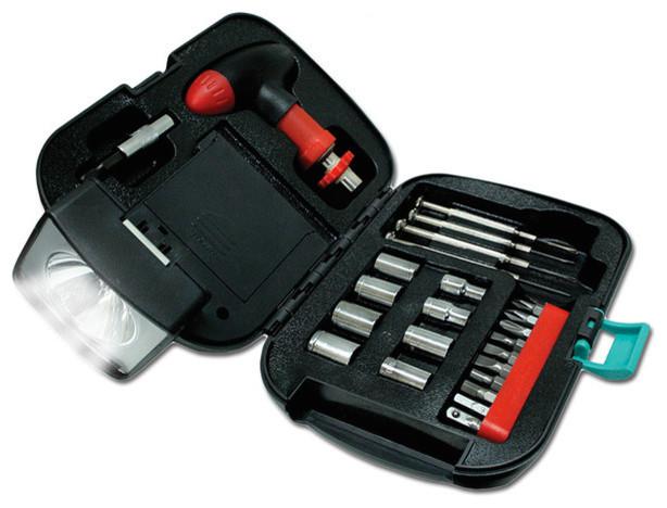25-Piece Tool Kit With Flashlight.