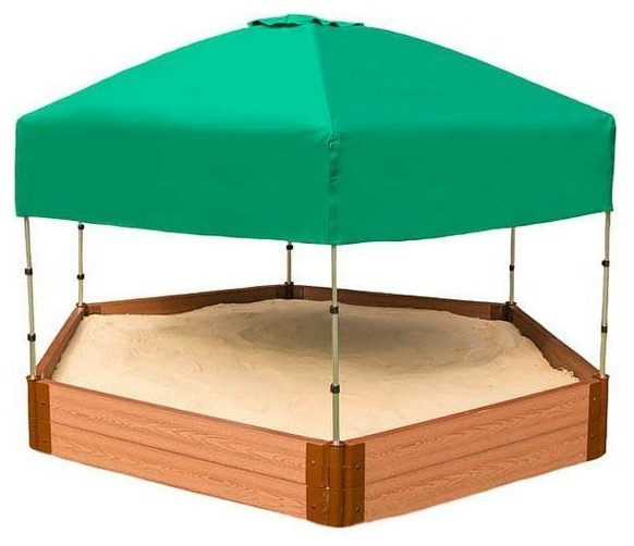 Two Inch Series 7u0027x8u0027x11  Hexagon Sandbox Kit With Canopy/Cover  sc 1 st  Houzz & Two Inch Series 7u0027x8u0027x11