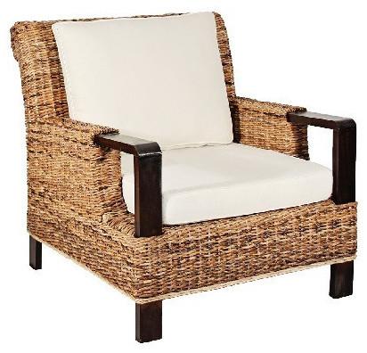 Arizma Banana Leaf Arm Chair Tropical Armchairs And