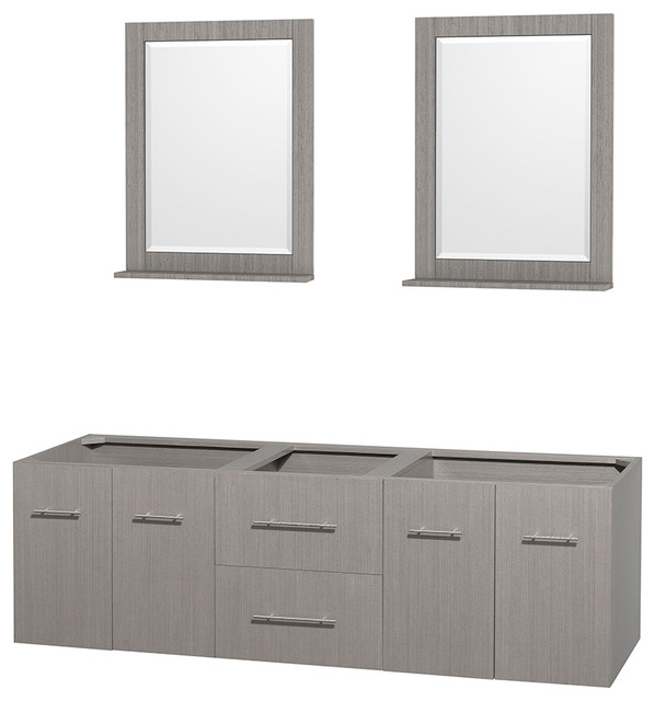 Centra 72 Double Vanity Base Only No Sink Top Contemporary Bathroom Vanities And Consoles By Parma Home