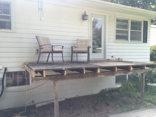 Small Upper Deck, That Steps Down To A Patio With A Pergola
