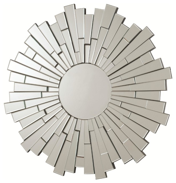 Contemporary Round Frameless Mirror. -1