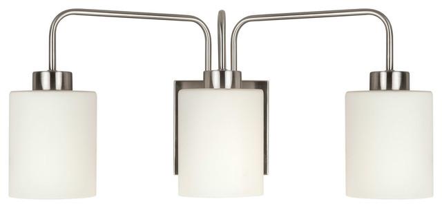 Signature 3 Light Bathroom Vanity Light in Brushed Nickel