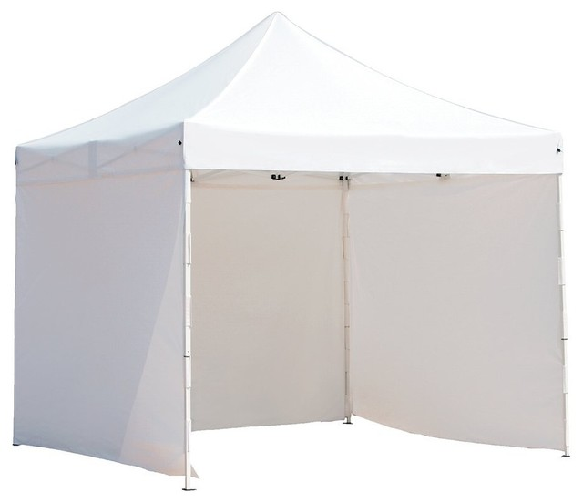 "Abba Patio 10&x27;""x10&x27; Outdoor Pop Up Canopy Tent With 4 Sidewalls, White."