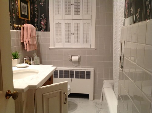captivating what color paint grey tiles bathroom | Bathroom paint color - coordinate with Dove Gray tile.