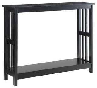 Mission Console Table, Black