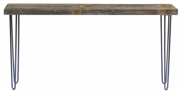 "Industrial 60"" Console Table, Natural."
