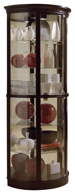 Half-Round Display Case, Chocolate Cherry.