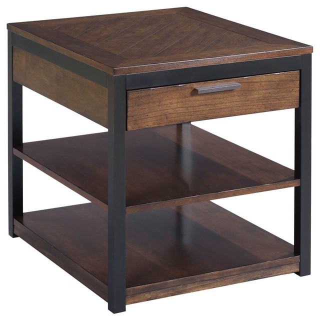 2-Shelf Rectangular End Table.
