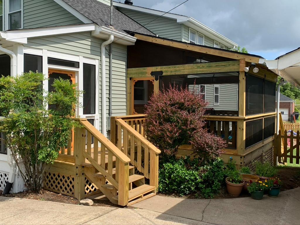 Rustic back porch