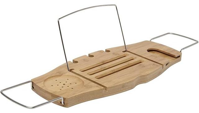 Adjustable Wood Bathtub Caddy - Contemporary - Shower Caddies - by ...