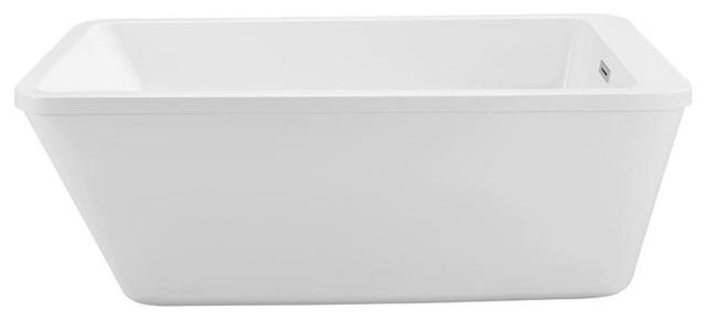 60 Streamline N-240-60fswh-Fm Soaking Freestanding Tub With Internal Drain.