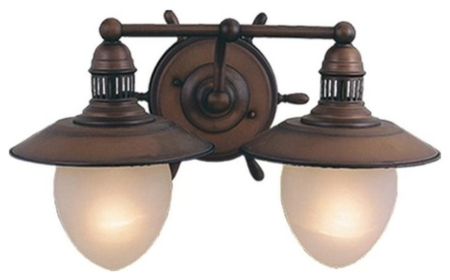 Talista 4 Light Antique Bronze Bath Vanity Light With: Vaxcel Orleans 2-Light Vanity, Antique Red Copper