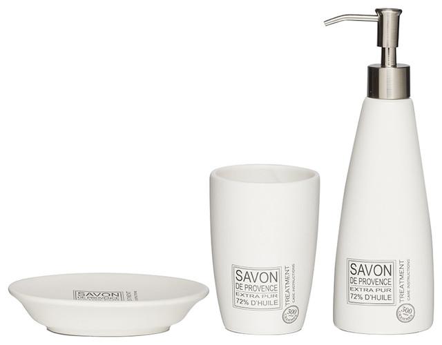 Porcelain Countertop Accessories Set Sealskin Savon De Provence