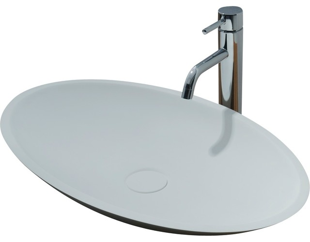 Id Jazz Solid Surface Vessel Sink Bowl Above Counter Sink Lavatory  Washbasin, La