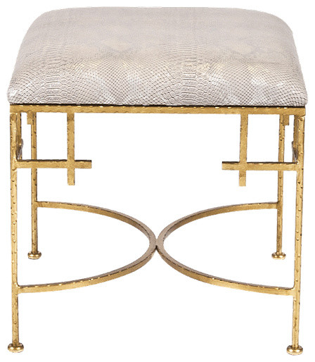 Worlds Away Worlds Away Lolita Snakeskin Stool Amp Reviews
