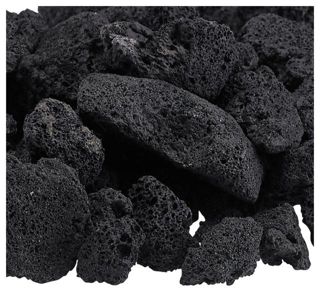 Black Lava Rock Fire Pit Bag, Medium, 1/2