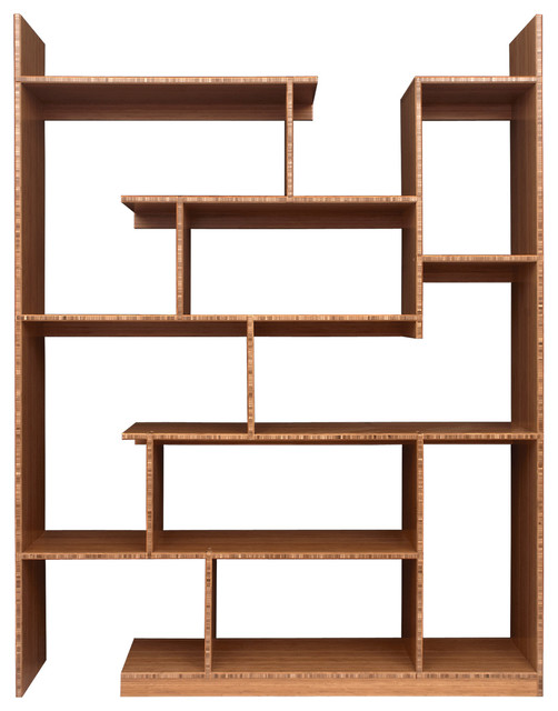 Brave Space Design Bamboo Stagger Metro Bookcase