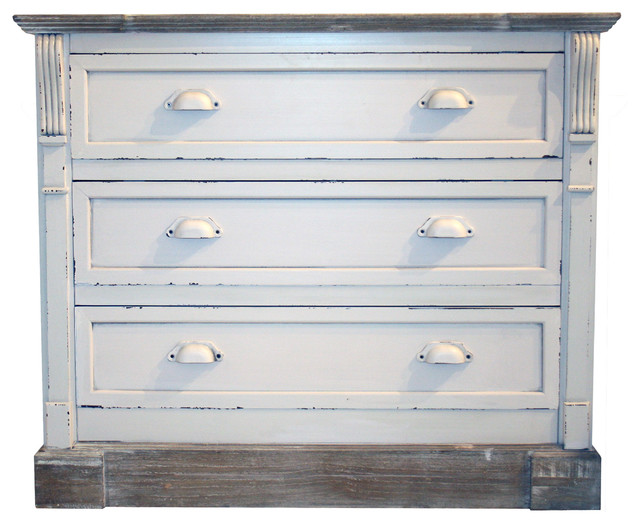 White Shabby Chic Vintage French Style Chest Of 3 Drawer Bedroom Furniture