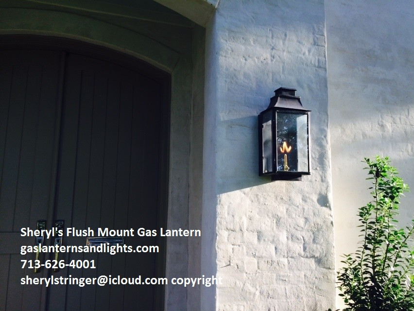 Sheryl's Flush Mount Gas and Electric Lanterns