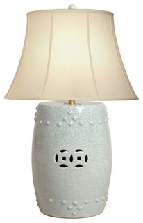 Ceramic Drum Garden Seat Lamp by Emmissary Home and Garden asian table lamps