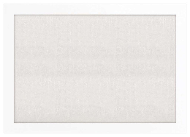 """Bulletin Boards 48""""x34"""", Pearl White Frame With Ash Fabric Surface."""