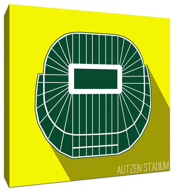 Oregon Ducks Autzen Stadium College Football Seating Map Canvas 9x9