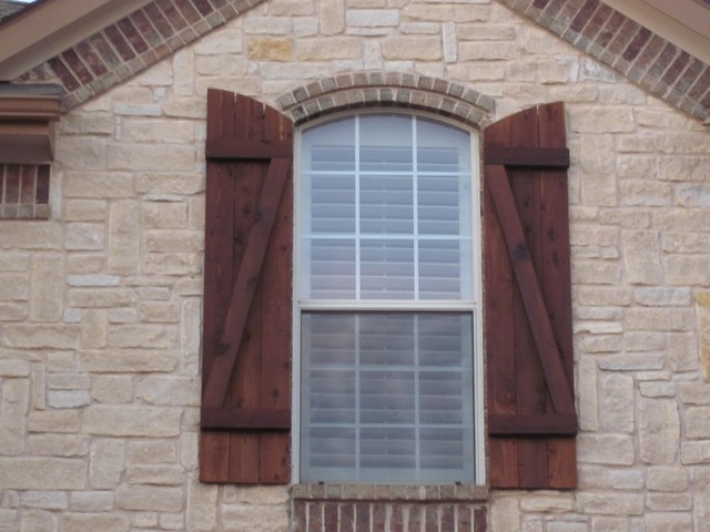 Custom Wood Exterior Shutters Dallas By Texas Best Fence