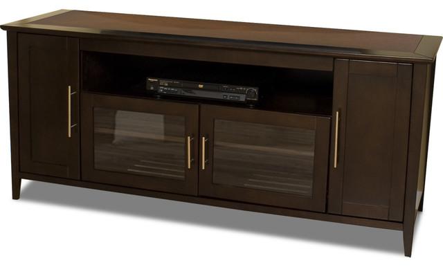 "Techcraft 64"" Wide Credenza Espresso - Contemporary - Media Storage - by BuilderDepot, Inc."
