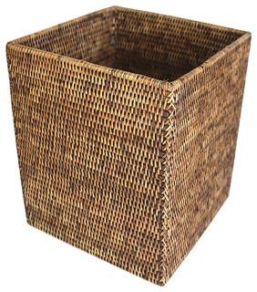 Matahari Rattan Waste Basket Square Reviews Houzz