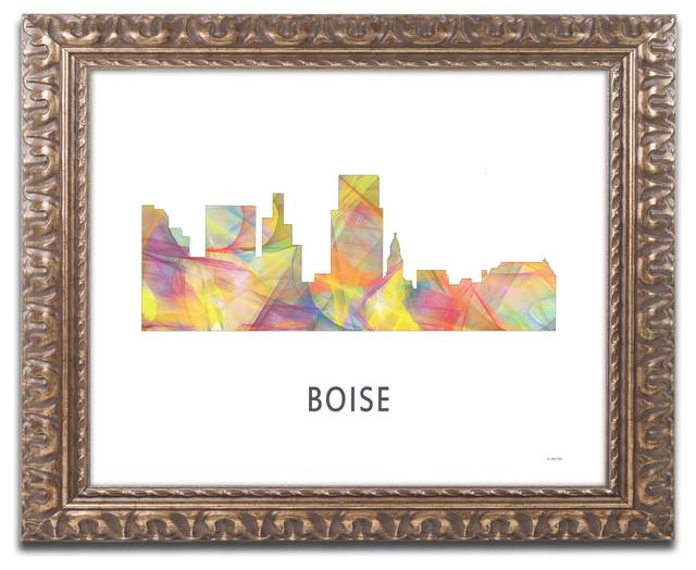 39 Boise Idaho Skyline Wb 1 39 Ornate Framed Art
