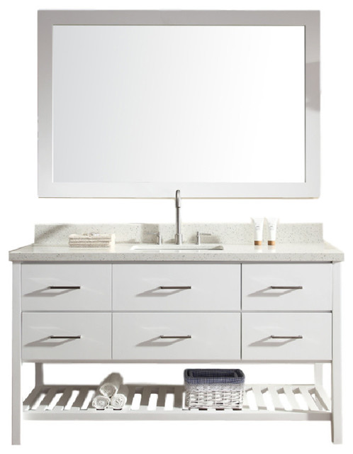 Shakespeare 61 Single Sink Vanity Set, White.