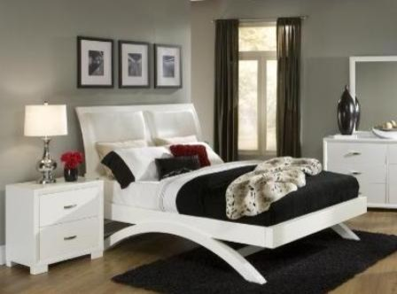 Inspired Home Decor Interiors Astrid White Queen Bed Frame