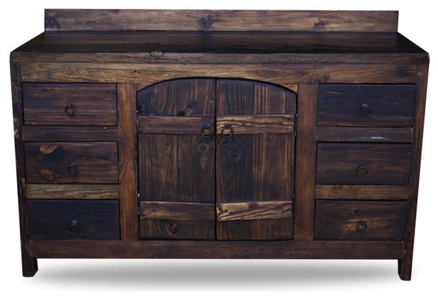 Old World Reclaimed Barnwood Vanity Rustic Bathroom Vanities And Sink Consoles By Foxden Decor