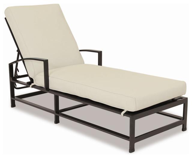 La Jolla Chaise With Cushions, Cushions: Canvas Granite.