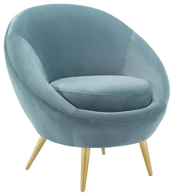Circuit Performance Velvet Accent Chair, Light Blue