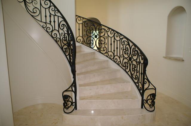 Marble U0026 Iron Stairs Mediterranean Staircase