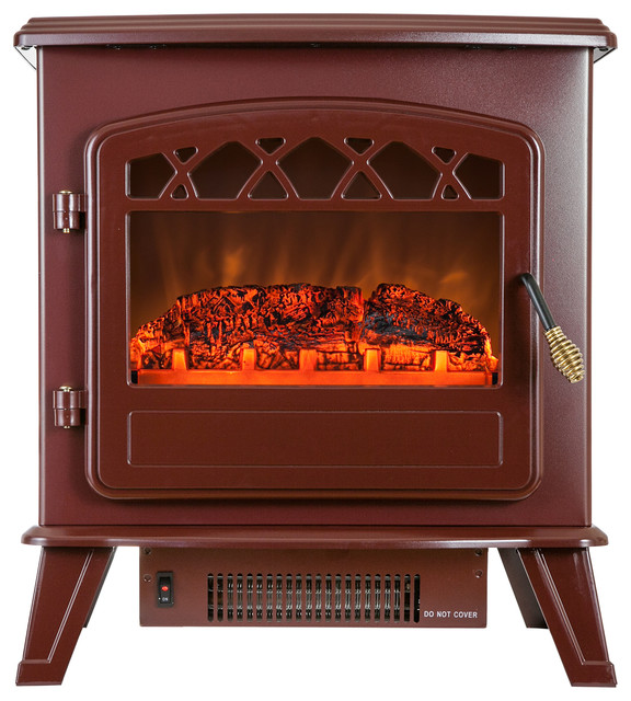 Golden Vantage 20 Red 2-Setting Tempered Glass Adjustable Electric Fireplace.