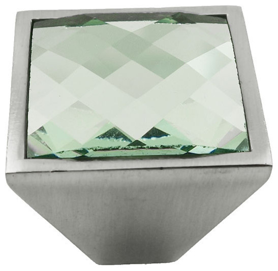 ModBaron - MultiFaceted Silver Snow Brushed Nickel Square Frustum Knob & Reviews | Houzz