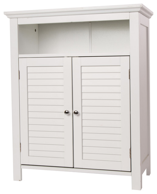 32 H Wooden Floor Storage Cabinet With