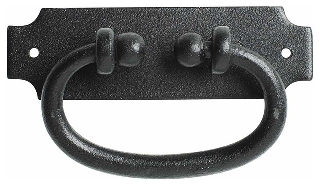 Cabinet Or Drawer Pull Black Wrought Iron 5 14x1 916 Rustic