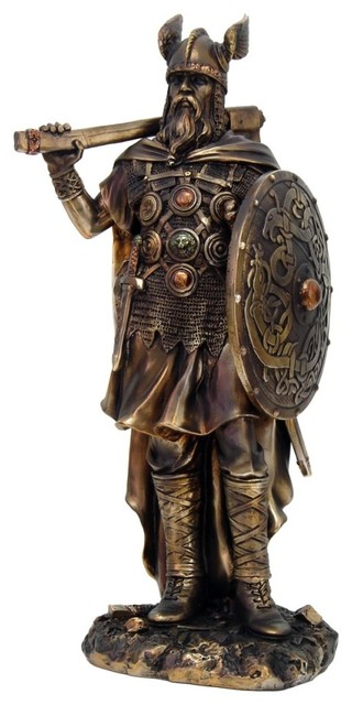 Viking Warrior Figurine - Traditional - Decorative Objects And ...