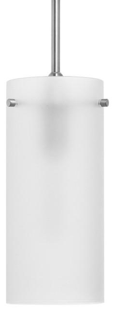 Effimero 1-Light Stem Hung Pendant Lamp, Brushed Nickel.