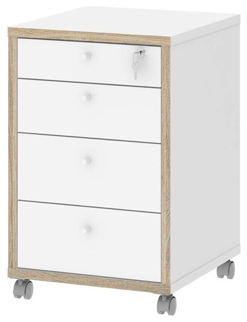 Hamilton 4-Drawer Mobile Cabinet - Scandinavian - Filing Cabinets - by BisonOffice