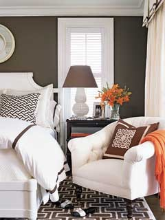Graphic Pattern Guest Bedroom - MyHomeIdeas.com contemporary bedroom
