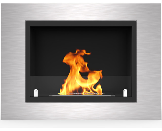 Venice 32 Ventless Built In Recessed Bio Ethanol Wall Mounted Fireplace.